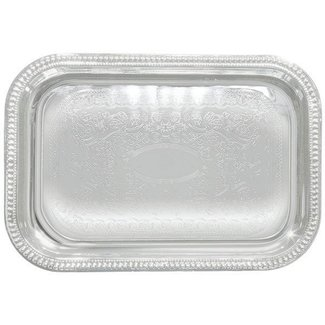 Winco Winco CMT-2014 Serving Tray, Oblong, 20'' x 14'', Chrome Plated