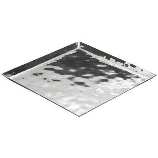 Winco Winco HPS-12 Premium Display Tray, Square, 11-3/4'' x 11-3/4'' x 5/8'', Extra Heavy, S/S