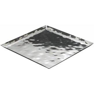 Winco Winco HPS-13 Premium Display Tray, Square, 13-1/4'' x 13-1/4'' x 5/8'', Extra Heavy, S/S