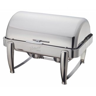 Winco Winco 101B Virtuoso 8qt Full-size Chafer, Roll-top, S/S, Extra Heavyweight