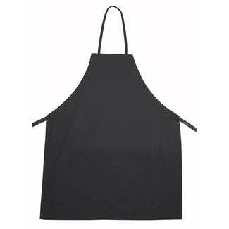 Winco Winco BA-3226BK Full Length Bib Apron, Black