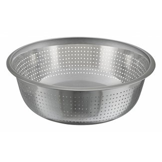 Winco Winco CCOD-13S 13'' Colanders, Chinese Style, 2.5mm Holes, S/S