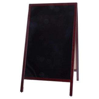 Winco Winco MBAF-4 Marker Board, A-Frame, 44'' x 25-1/4'', Mahogany