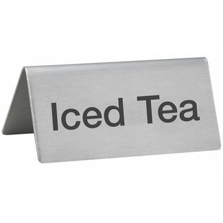 "Winco Winco SGN-105 Tent Sign, ""Iced Tea"", S/S"