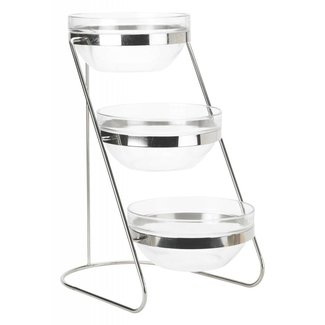 Winco Winco TDS-3 3 Tier Glass Bowl Display Set
