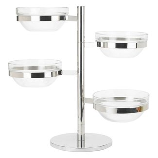 Winco Winco TDSF-4 4 Tier Swing Arm Glass Bowl Display Set