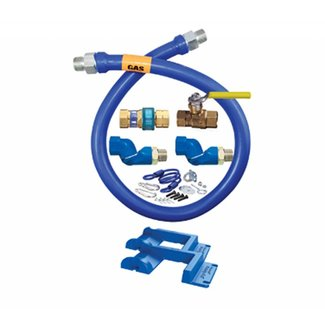 "Dormont Dormont Gas Hose Safety Kit with Position Bumpers  1/2"" x 48"" hose - 1650KIT2S48PS"