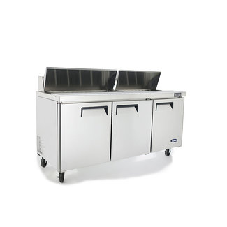 Atosa USA Atosa USA MSF8304GR 72'' Sandwich Prep. Table with 18 Pan Dimensions: 72.7 W * 30 D * 44.3 H