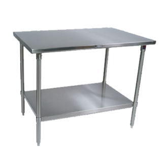 John Boos 16GA 84X30 Stainless Steel Work Table with  SS SHF KD - ST6-3084SSK-X