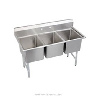 Elkay Elkay Foodservice 3C12X16-0 3 Compartment Sink