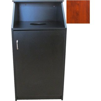 Oak Street Mfg Waste Receptacle cherry finish - M8510-CH-ASSEMBLED