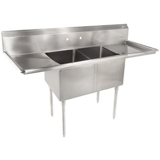 John Boos E2S8-18-12T18-X Two Compartment Sink