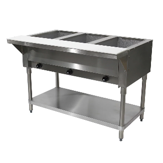 Advance Tabco Three Pan Powered Hot Food Table HF-3G-LP
