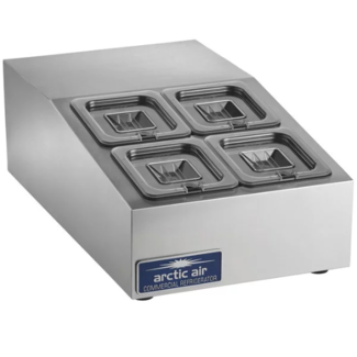 Arctic Air ACP4SQ Refrigerated Pan Rail 4 pan