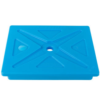 "Cambro CP1210159  Camchiller®, 1/2 GN, 10-3/8""L x 12-3/4""W x 1-1/2""H, maintains chilled foods in transport, cold blue, dishwasher safe, stackable, NSF"