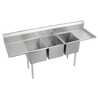 Elkay Three (3) Compartment Sink E3C16X20-2-18X