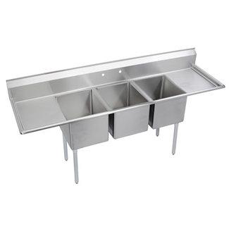 Elkay Three (3) Compartment Sink E3C16X20-2-18X
