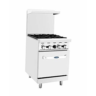 Atosa USA Atosa USA ATO-4B 24'' Gas Range. (4) Open Burners with One 20'' Wide Oven (Castors Included)