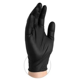 AMMEX Corp GlovePlus Black Nitrile PF Ind Gloves - X-Large GPNB48100 single box 100 Gloves