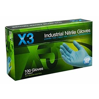 AMMEX Corp AMMEX LX3 Latex PF Ind Gloves - X-Large LX349100 single box 100 Gloves