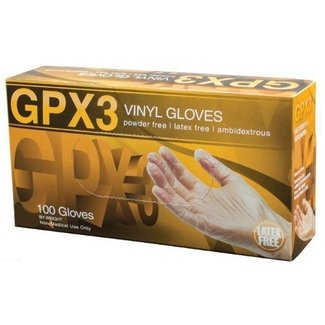 AMMEX Corp GPX3 Vinyl PF Ind Gloves - X-Large GPX348100 single box 100 Gloves