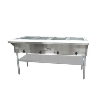 Admiral Craft 4 Bay Open Well Steam Table 240v - ST-240/4