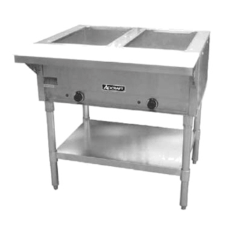 Admiral Craft ST-120/2 Two Bay Open Well Steam Table - 120v