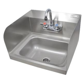 John Boos 14X10X5 Wall Hand Sink w/ Fct & Splsh Grds - PBHS-W-1410-P-SSLR