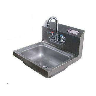 John Boos Hand Sink Wall Mount w/faucet & drain PBHS-W-1410-P-X