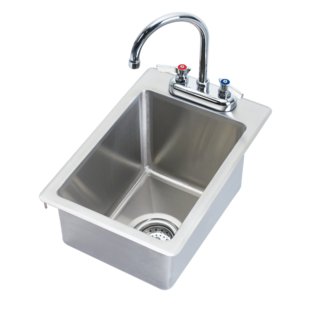 "Krowne Metal HS-1425 - 12"" x 18"" Drop-In Hand Sink, 5"" Deep Bowl"