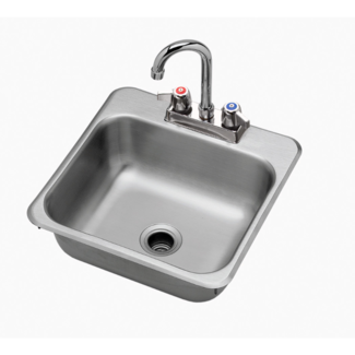 "Krowne Metal HS-1515 - 15"" x 15"" Drop-In Hand Sink"