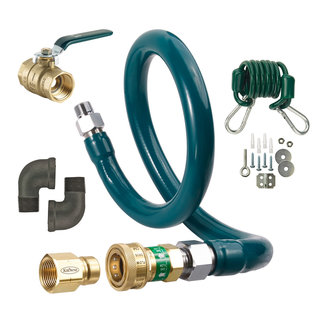 "Krowne Metal M5048K - Complete Gas Hose Connector Kit, 48"", 1/2"" Inside Diameter"