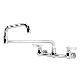 "Krowne Metal 12-818L - Commercial Series 8"" Center Wall Mount Faucet, 18"" Jointed Spout, Low Lead"