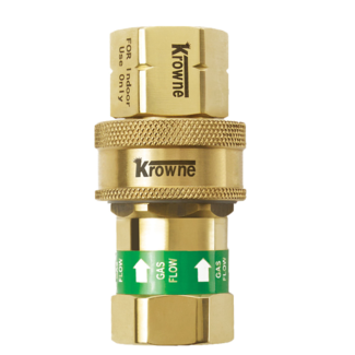 "Krowne Metal QD50 - 1/2"" Quick Disconnect for Gas Hoses"