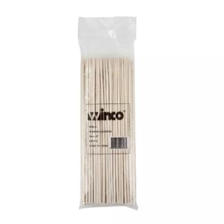 "Winco 8"" Bamboo Skewers, 100/bag WSK-08"