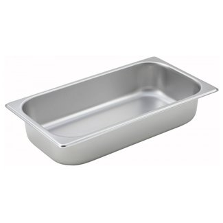 "Winco Straight-sided Steam Pan, 1/3 Size, 2-1/2"", 25 Ga S/SS PT2"