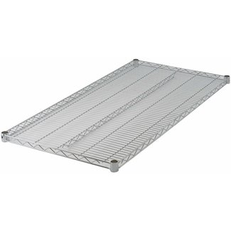 "Winco VC-2124 Wire Shelf, Chrome Plated, 21"" x 24"""