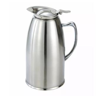 Winco Winco VSS-508 20oz S/S Lined Coffee Server Pot, Insulated, Satin Finish
