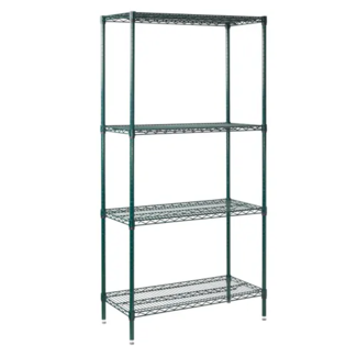 Winco Winco VEXS-1836 4-Tier Wire Shelving Set, Epoxy Coated, 18'' x 36'' x 72''