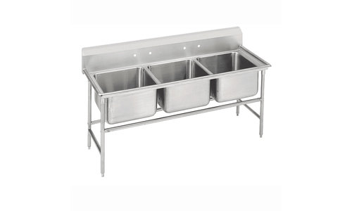 3 Compartment Sinks with Dishmachine Hook-in