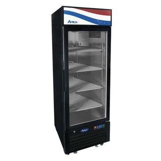 Atosa USA Atosa USA MCF8720GR Bottom Mount (1) Glass Door Freezer 19.39 cuft - Black Cabinet Dimensions: 27 W * 31.5 D * 81.2 H
