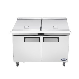 Atosa USA Atosa USA MSF8307GR 60'' Mega top Sandwich Prep. Table with 24 Pan Dimensions: 60.2 W * 34 D * 47.1 H