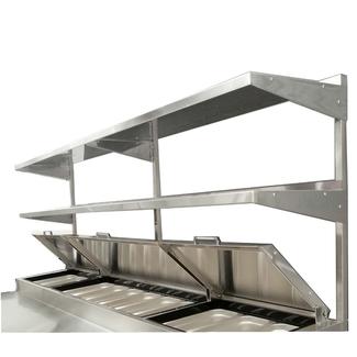 "Atosa USA Atosa MROS-67P Adjustable Height Double Overshelf for 67"" Pizza Prep Table"
