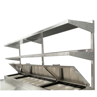 "Atosa USA Adjustable Height Double Overshelf for 93"" Pizza Prep Table"
