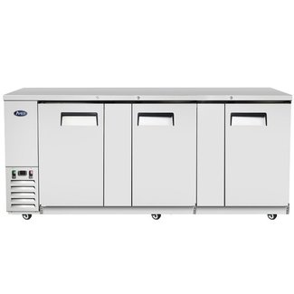 Atosa USA Atosa USA MBB90 90'' Back Bar Cooler - Stainless Steel  Dimension: 89.3 W * 28.1 D * 40 H