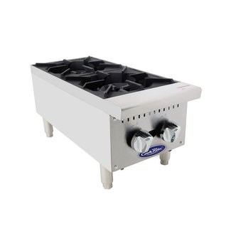 Atosa USA Atosa USA ATHP-12-2 HD 12'' (2) burner hotplate with total 50,000 BTU