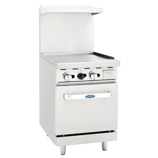 Atosa USA Atosa USA ATO-24G 24'' Gas Range.24'' Wide Griddle with One 20'' Wide Oven (Castors Included)