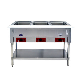 Atosa USA Atosa USA CSTEA-3B Electric Hot Food Table, 3 Wells 500W/well, 1500W/120V (Water Pans & Covers Included)