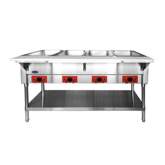 Atosa USA CSTEA-4B Electric Hot Food Table, 4 Wells 500W/well, 2000W/120V (water pans & coves included)
