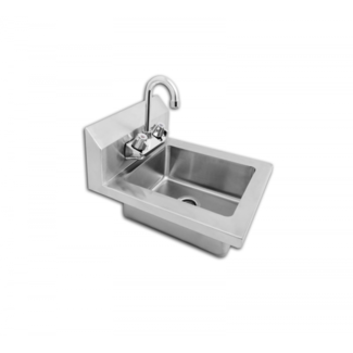 """Atosa USA Atosa USA MRS-HS-14 Hand sink, Dim 14""""W*16.5""""D*11""""H, bowl size 10'' x 12'' x 5'' deep with 8'' back splash, 18G 304 S/S Lead free faucet included"""